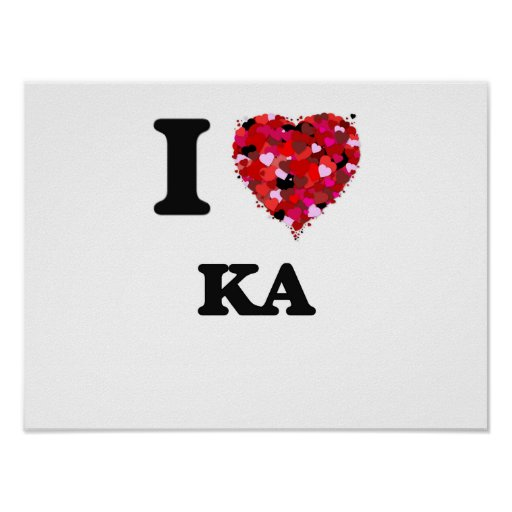 I Love My KA Poster