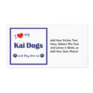 I Love My Kai Dogs (Multiple Dogs) Shipping Label
