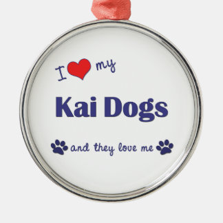I Love My Kai Dogs (Multiple Dogs) Ornament