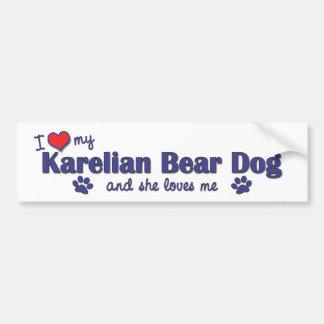 I Love My Karelian Bear Dog (Female Dog) Car Bumper Sticker