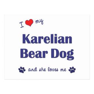 I Love My Karelian Bear Dog (Female Dog) Postcard