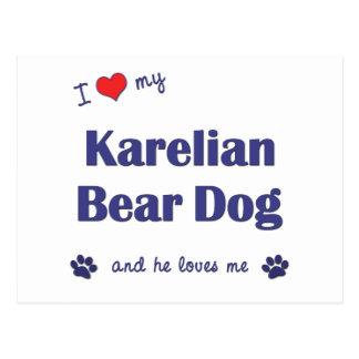 I Love My Karelian Bear Dog (Male Dog) Postcard