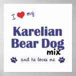 I Love My Karelian Bear Dog Mix (He) Poster Print