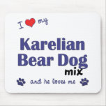 I Love My Karelian Bear Dog Mix (Male Dog) Mouse Pads