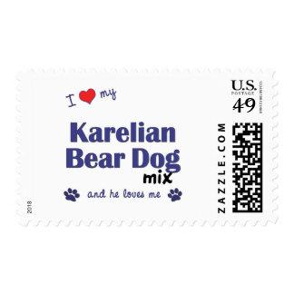 I Love My Karelian Bear Dog Mix (Male Dog) Stamp