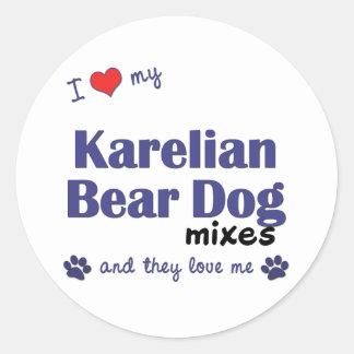 I Love My Karelian Bear Dog Mixes Multiple Dogs Stickers