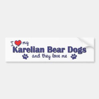 I Love My Karelian Bear Dogs (Multiple Dogs) Car Bumper Sticker