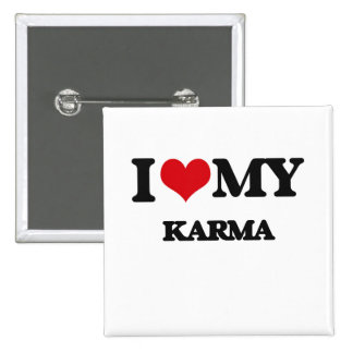 I Love My KARMA Pinback Button