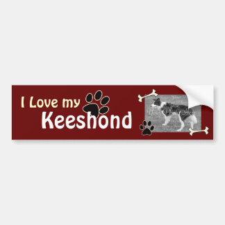 I love my Keeshond Bumper Sticker