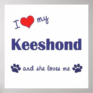 I Love My Keeshond (Female Dog) Posters