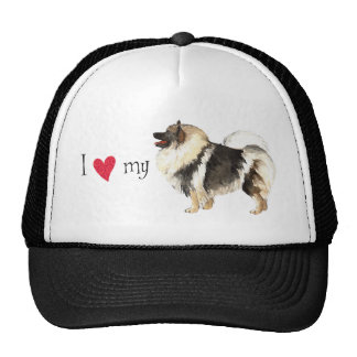 I Love my Keeshond Hat