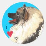 I Love my Keeshond Round Sticker