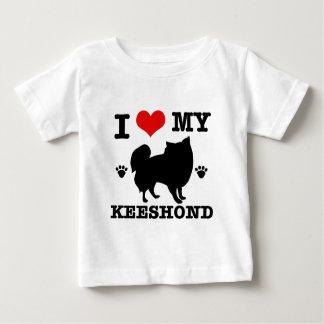 I Love my keeshound Baby T-Shirt