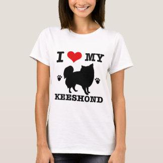 I Love my keeshound T-Shirt