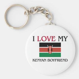 I Love My Kenyan Boyfriend Basic Round Button Keychain