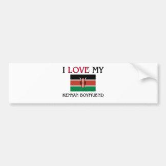 I Love My Kenyan Boyfriend Car Bumper Sticker