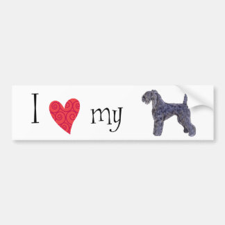 I Love my Kerry Blue Terrier Car Bumper Sticker