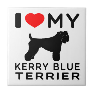 I Love My Kerry Blue Terrier. Ceramic Tile