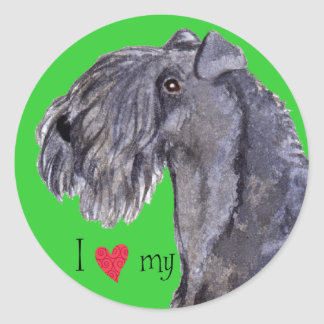 I Love my Kerry Blue Terrier Classic Round Sticker