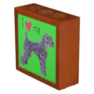 I Love my Kerry Blue Terrier Desk Organizers