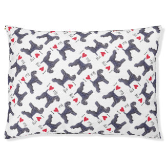 I Love my Kerry Blue Terrier Large Dog Bed