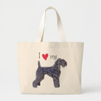 I Love my Kerry Blue Terrier Large Tote Bag