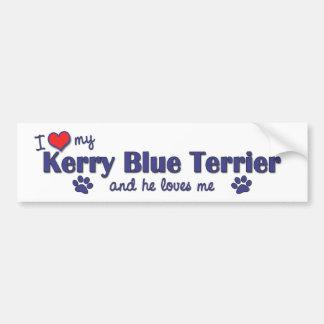 I Love My Kerry Blue Terrier (Male Dog) Bumper Sticker