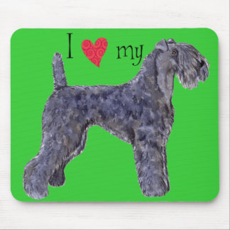I Love my Kerry Blue Terrier Mouse Pad