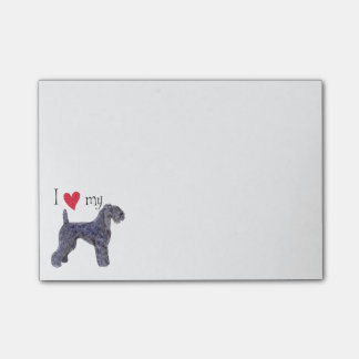I Love my Kerry Blue Terrier Post-it® Notes