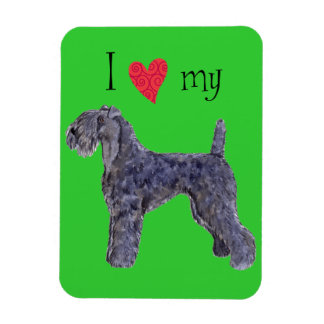 I Love my Kerry Blue Terrier Vinyl Magnets