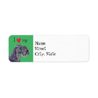 I Love my Kerry Blue Terrier Return Address Label