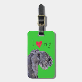I Love my Kerry Blue Terrier Tags For Bags
