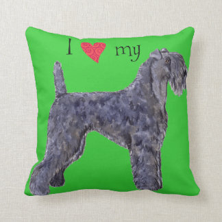 I Love my Kerry Blue Terrier Throw Pillows