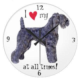I Love my Kerry Blue Terrier Wall Clock