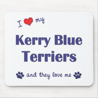 I Love My Kerry Blue Terriers (Multiple Dogs) Mouse Pad