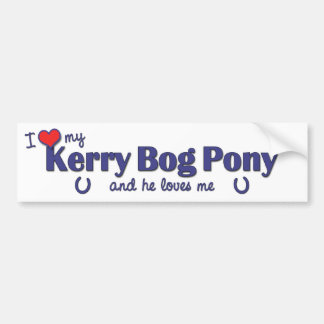 I Love My Kerry Bog Pony (Male Pony) Bumper Stickers