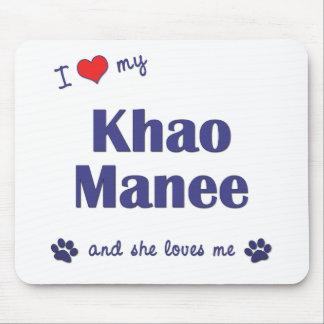 I Love My Khao Manee (Female Cat) Mouse Pad