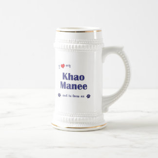 I Love My Khao Manee (Male Cat) Beer Stein