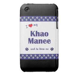 I Love My Khao Manee (Male Cat) iPhone 3 Case-Mate Case