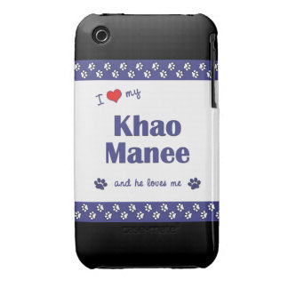 I Love My Khao Manee (Male Cat) iPhone 3 Cover