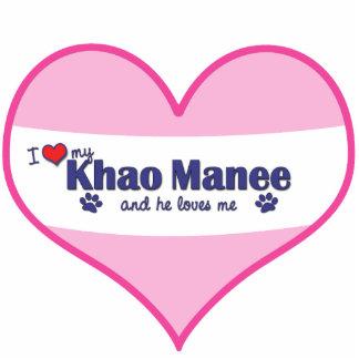 I Love My Khao Manee (Male Cat) Statuette