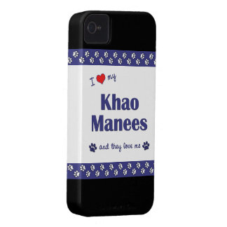 I Love My Khao Manees (Multiple Cats) iPhone 4 Case