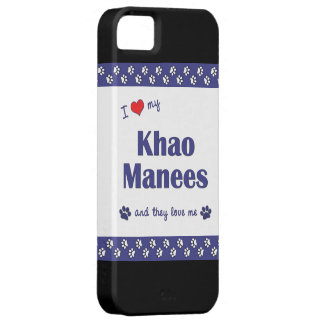 I Love My Khao Manees (Multiple Cats) iPhone SE/5/5s Case