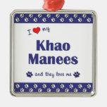 I Love My Khao Manees (Multiple Cats) Christmas Ornaments