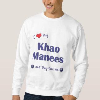 I Love My Khao Manees (Multiple Cats) Sweatshirt