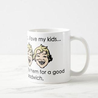 I love my kids, but... classic white coffee mug