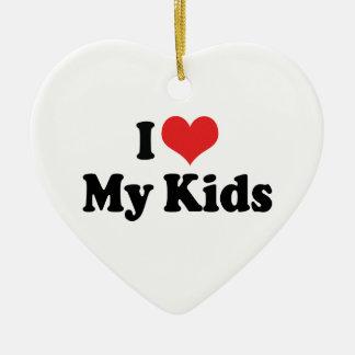 I Love My Kids Ornament