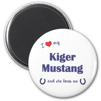 I Love My Kiger Mustang (Female Horse) 2 Inch Round Magnet