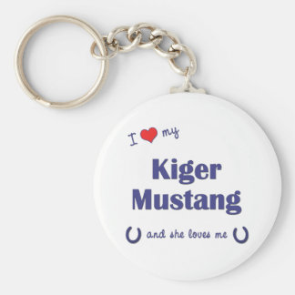 I Love My Kiger Mustang (Female Horse) Key Chains
