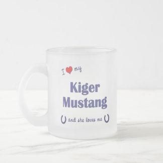I Love My Kiger Mustang Female Horse Mugs